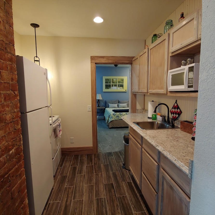 View inside the shared kitchen